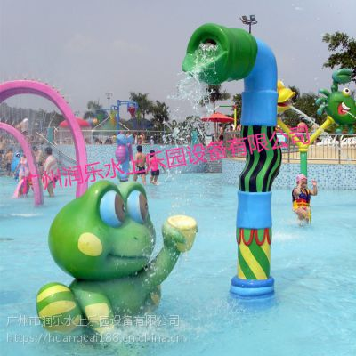广州润乐水上乐园供应戏水小品、滑梯系列——青蛙跌水