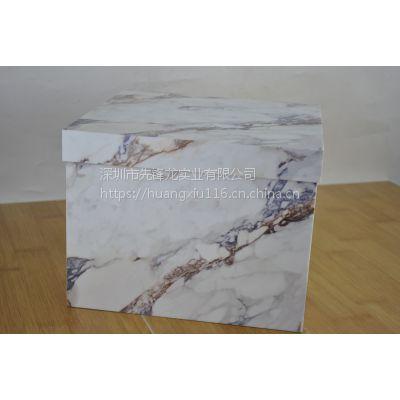 新颖款式亚克力有机玻璃大理石花纹储物箱收纳箱(白色款)