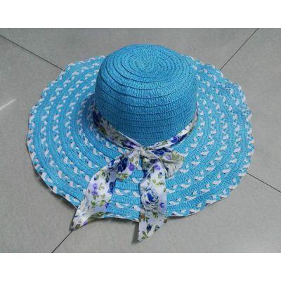 2017年新款夏季太阳帽子 时尚草编女士遮阳帽 地摊货爆利产品