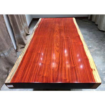 厂家直销红花梨实木大板桌220长96宽 原木茶桌 简约现代