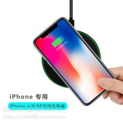 厂家直销钢化玻璃手机无线充电器 圆形轻薄可定制图案无线充电器