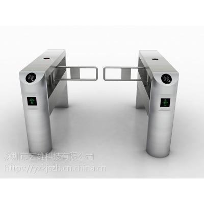 苏州人行通道闸(摆闸)云雄科技,桥式斜角圆弧摆闸(YX-906),外形优美,保证质量