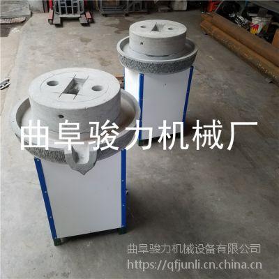 骏力热销 花生酱石磨机 电动香油机械 农村用的豆浆石磨机械 厂家