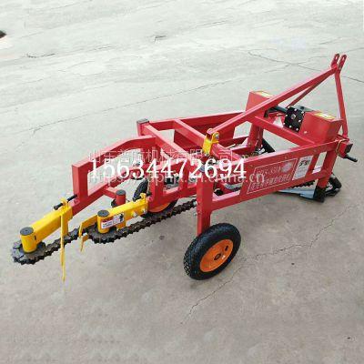 高效花生收获机 普航拖拉机牵引的花生收获机厂家 落生挖掘机报价