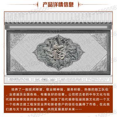 哈尔滨砖雕门楼青砖砌块天津砖雕