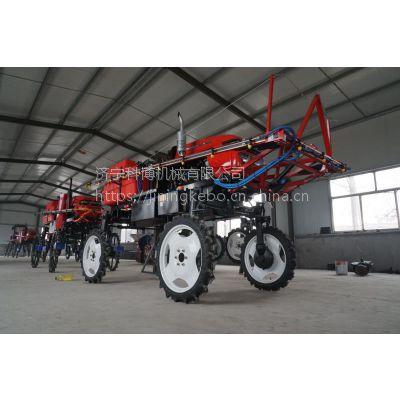 科博机械农用28马力柴油机自走式小麦 玉米打药机 通过高度1米1
