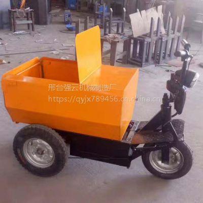 建筑工地三轮车小型电动拉沙石混凝土翻斗车煤矿农业用运输三轮车
