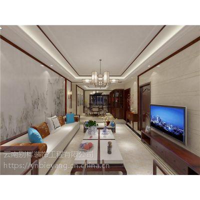 昆明半岛华府140平米中式风格 电梯门奢华入户装修