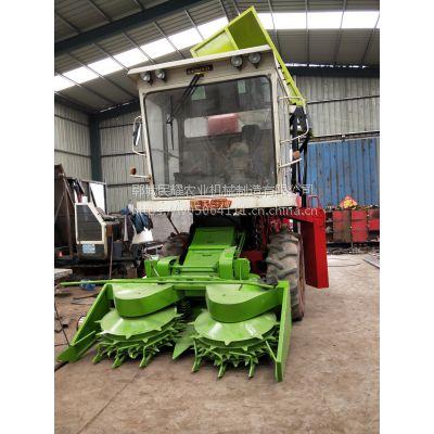 转盘直喷出料口青储机 多功能青贮机 牧草收割粉碎还田机