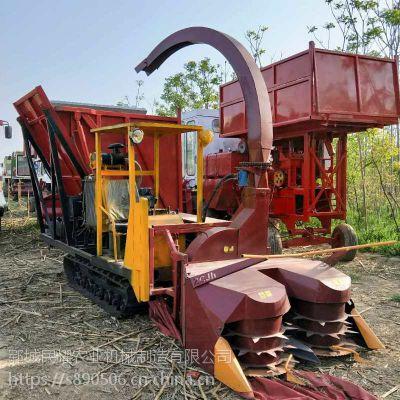 双转盘履带式秸秆青储机 秸秆粉碎回收机 大料箱 工作效率高 养殖业专用