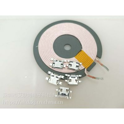 USB-MICRO 5P F 破板式母座0.6/板0.8/板1.2 沉板四脚