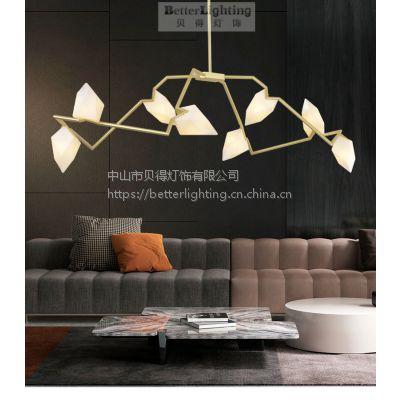 北欧客厅吊灯创意个性艺术餐厅卧室灯后现代简约LED树枝桃子吊灯