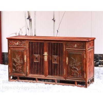 天津精品红木家具价格表老挝大红酸枝交趾黄檀厂家批发四门餐边柜
