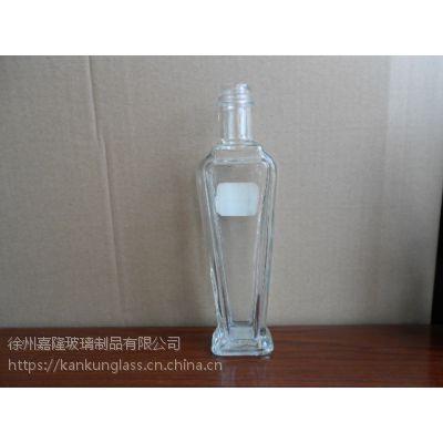 供应高白料玻璃麻油瓶 容量250毫升
