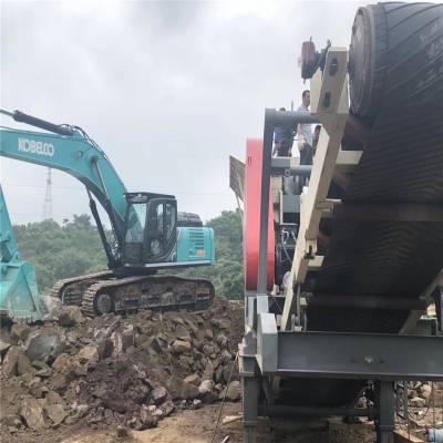时产300吨移动式建筑垃圾破碎站 反击式破碎站 石料破碎机厂家