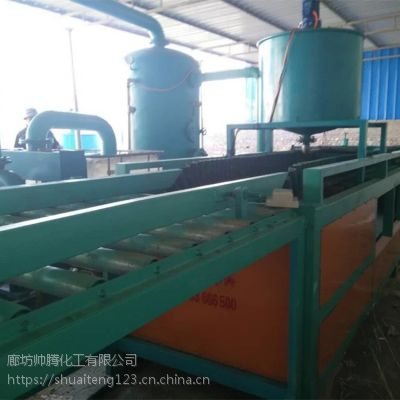 硅质改性聚苯板设备 高速型硅质板生产线 高压渗透型生产设备 保温板生产加工 帅腾