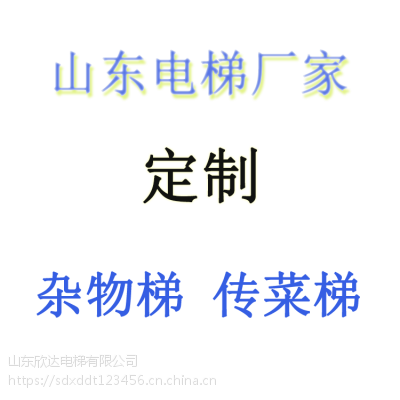 山东传菜电梯杂货梯食梯厂家欣达电梯xd-2定制生产