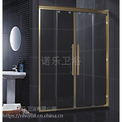 铝合金光金两梗两活对开吊趟门 淋浴房门 诺乐制造