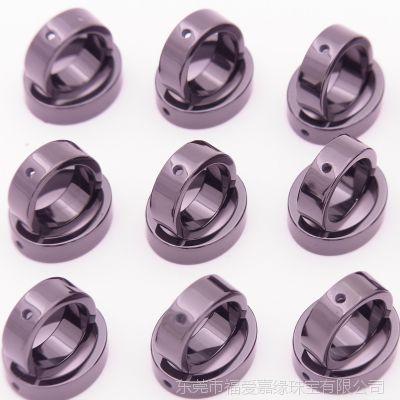 3.5mm无字印有孔椭圆吊坠精密氧化锆陶瓷首饰配件加工双环项链厂