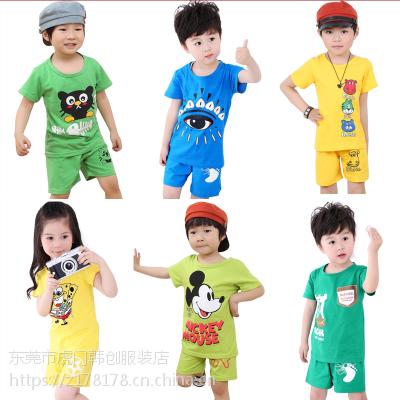 低价儿童T恤批发厂家库存童装上衣清货便宜连衣裙几元地摊货源甩卖处理