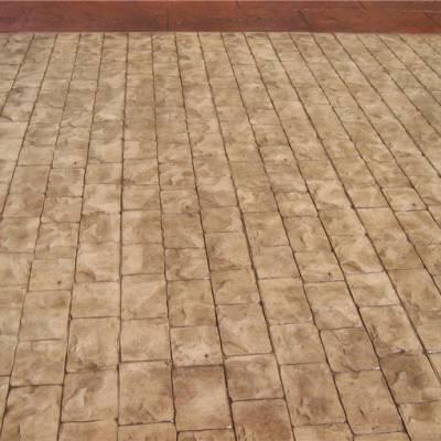 五指山市、文昌市彩色压模地坪材料厂家 压花路面模具印模地坪施工技术