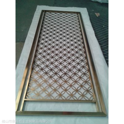 不锈钢屏风厂 专业不锈钢装饰屏风 图片