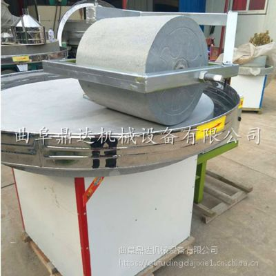 老式石盘电动石碾 商用大型豆浆电动石磨 鼎达报价