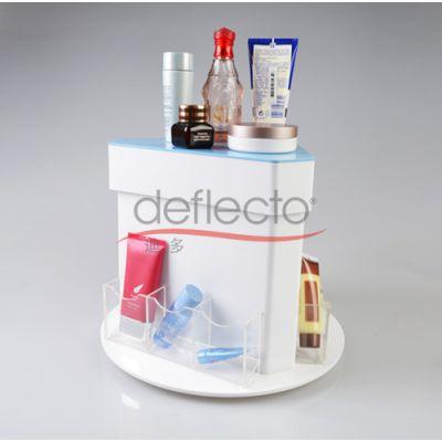 多位一体化妆品盒,商超卖场收纳盒,旋转亚克力架,多功能展示架,有机玻璃设计加工