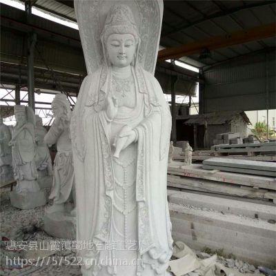 三面观音 三面佛石雕佛像 寺外大型佛像生产加工厂家