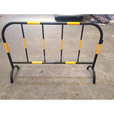 可移动临时铁马护栏 临时施工隔离黄黑铁马 批发价格
