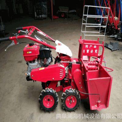 柴油自走式玉米高粱秸秆还田机 手扶拖拉机配套苞米收获机