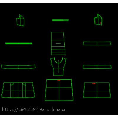 承接各类服装打版CAD制版绘图仪1:1裁片输出排版纸打印服装打样确认工艺单编写