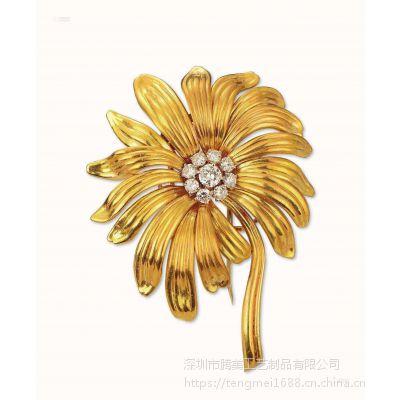 女士专用服饰胸针 胸花 花朵镶嵌工艺