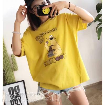 昆明便宜女装T恤2019年夏季服装纯棉小衫短袖批发女士上衣清货地摊货批发