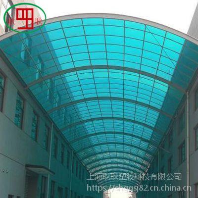 打造完美pc温室大棚阳光板厂家批发大棚专用两层蓝色透明pc阳光板