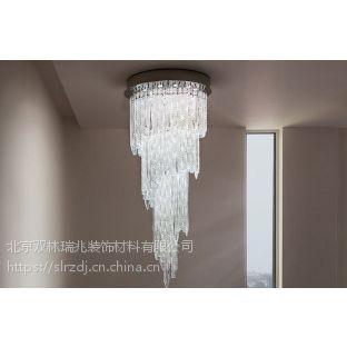 北京通州定制酒店大堂现代简约装饰灯玻璃