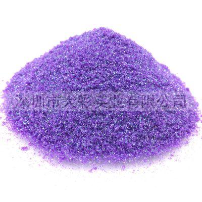 厂家供应C06幻彩紫金葱粉文具玩具工艺品注塑高温金葱粉pet