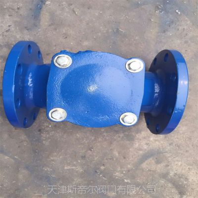 H44X 橡胶板止回阀 卧式止回阀 法兰球墨铸铁 厂家直销 天津斯帝尔