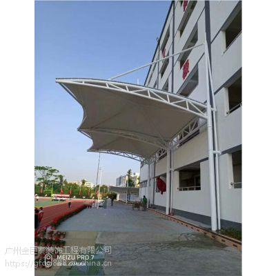 市桥膜结构车库出入口雨棚 商城地下通道雨棚 户外遮阳棚景观棚制作安装
