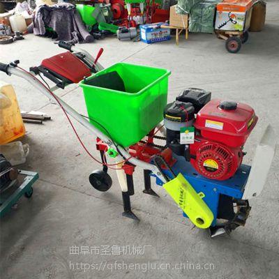 汽油自走式施肥机 大马力玉米追肥机 圣鲁机械