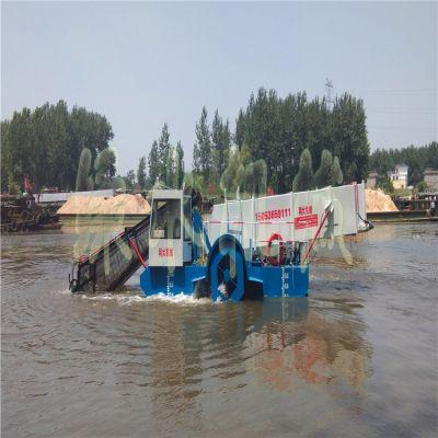 福建河道水花生打捞机械,蓄水池水浮莲清理设备,景区保洁船