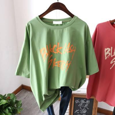 2019便宜夏季短袖韩版女式T恤服装清货地摊货批发1-5元服装清货杂款女士T恤清