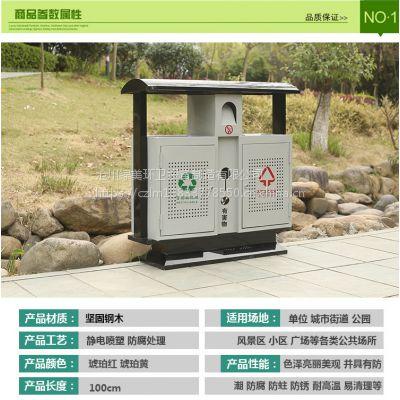 镀锌喷塑垃圾桶分类双桶垃圾桶生产厂家