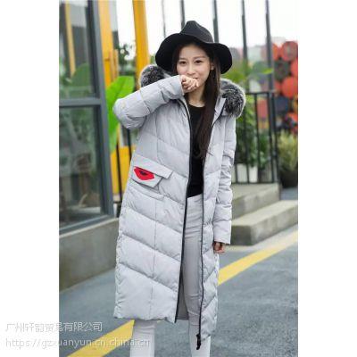 Missfofo冬装系列 品牌折扣尾货女装批发 一手货源专柜正品羽绒服外套走份批发