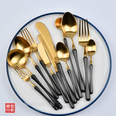 银貂 新品 304不锈钢西餐具 凯雅刀叉勺套装 北欧西式刀叉勺 现货