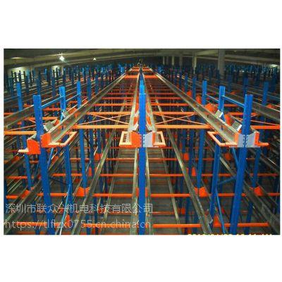 深圳货架厂轻型货架自动立体库阁楼平台抽屉式角钢轮胎穿梭车架