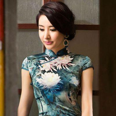 品牌女装批发 18新款萧萍萍旗袍 品牌尾货批发