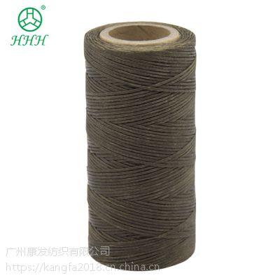 广州蜡线 420D沙发皮革专用线工业缝纫机线340种颜色可选