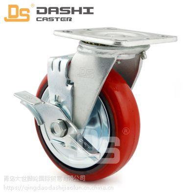 大世脚轮厂家 铁芯聚氨酯材质 高耐磨质量好 重型工业脚轮 万向轮