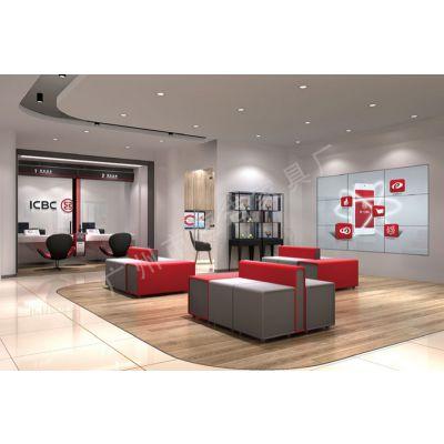 智慧银行家具 工行客户等候区沙发 四川银行家具